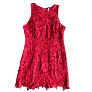 Kensie Dress Red Crochet Go Red Campaign Free Ship